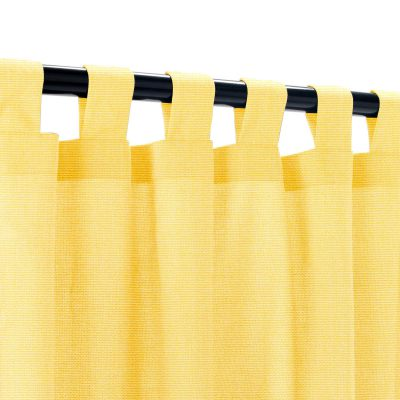 Sunbrella Canvas Buttercup Outdoor Curtain with Tabs
