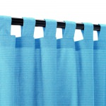 Sunbrella Canvas Capri Outdoor Curtain with Tabs
