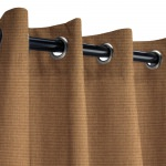 Sunbrella Canvas Chestnut Outdoor Curtain with Grommets