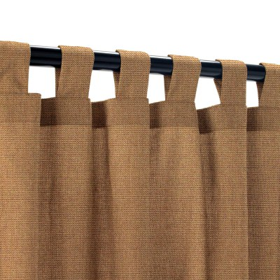 Sunbrella Canvas Chestnut Outdoor Curtain with Tabs