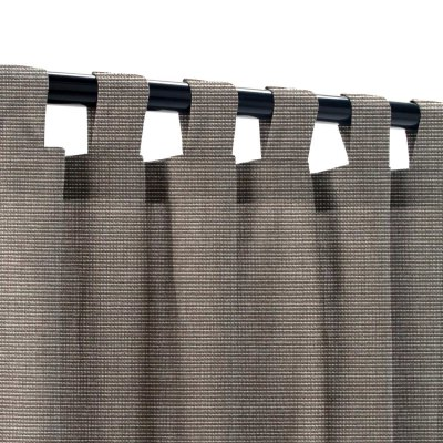 Sunbrella Canvas Coal Outdoor Curtain with Tabs
