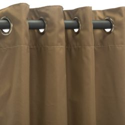 Canvas Cocoa Sunbrella Nickel Grommeted Outdoor Curtain
