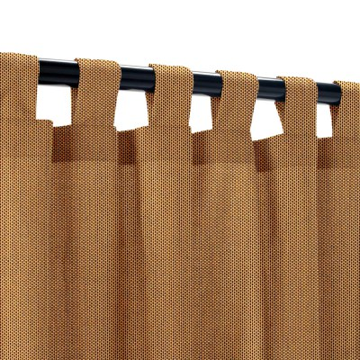 Sunbrella Canvas Cork Outdoor Curtain with Tabs