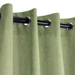 Sunbrella Canvas Fern Outdoor Curtain with Nickel Grommets