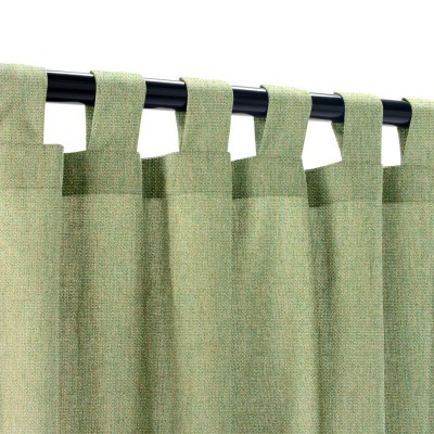 Sunbrella Canvas Fern Outdoor Curtain with Tabs