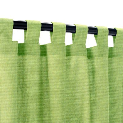 Sunbrella Canvas Gingko Outdoor Curtain with Tabs