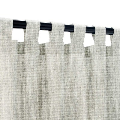 Sunbrella Canvas Granite Outdoor Curtain with Tabs
