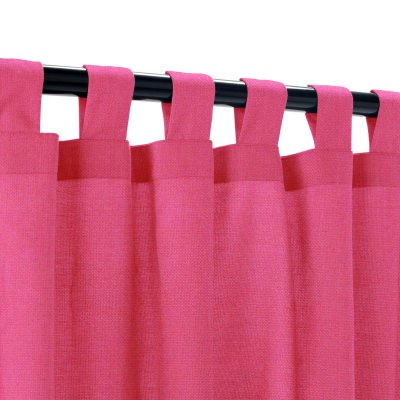 Sunbrella Canvas Hot Pink Outdoor Curtain with Tabs