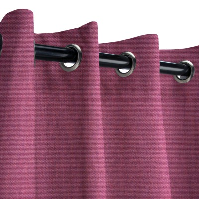 Sunbrella Canvas Iris Outdoor Curtain with Grommets