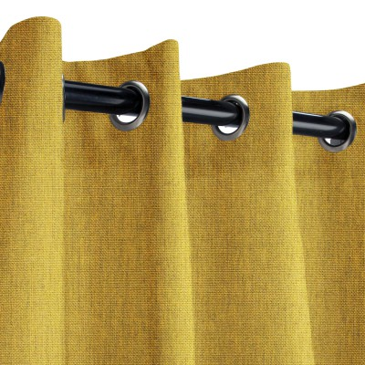 Sunbrella Canvas Maize Outdoor Curtain with Nickel Grommets