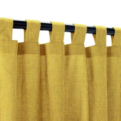 Sunbrella Canvas Maize Outdoor Curtain with Tabs