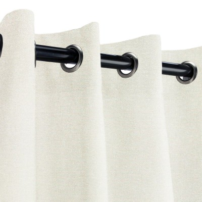 Sunbrella Canvas Natural Outdoor Curtain with Grommets