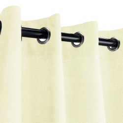 Sunbrella Canvas Natural Outdoor Curtain with Nickel Grommets
