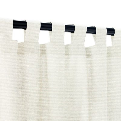 Sunbrella Linen Natural Outdoor Curtain with Tabs