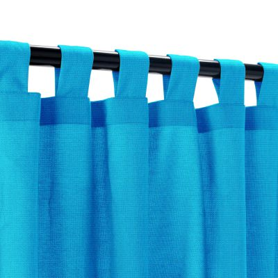 Sunbrella Canvas Pacific Outdoor Curtain with Tabs