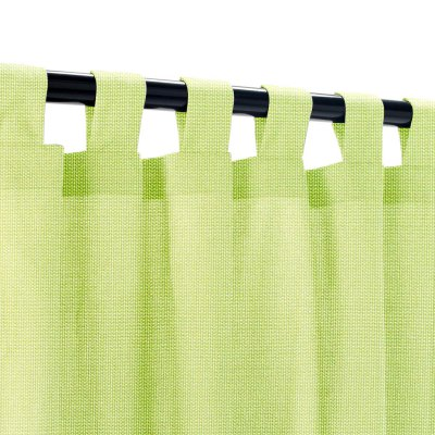 Sunbrella Canvas Parrot Outdoor Curtain with Tabs