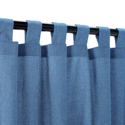 Sunbrella Canvas Regatta Outdoor Curtain with Tabs