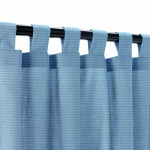 Sunbrella Canvas Sapphire Outdoor Curtain with Tabs