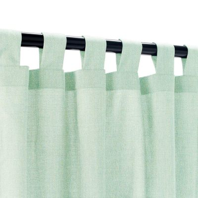 Sunbrella Canvas Spa Outdoor Curtain with Tabs