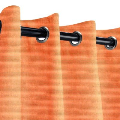 Sunbrella Canvas Tangerine Outdoor Curtain with Nickel Grommets