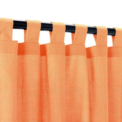 Sunbrella Canvas Tangerine Outdoor Curtain with Tabs