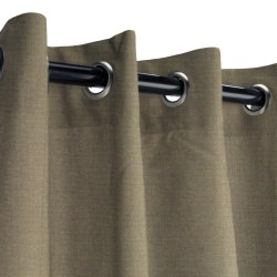 Sunbrella Canvas Taupe Outdoor Curtain with Grommets