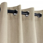 Sunbrella Canvas Taupe Outdoor Curtain with Nickel Grommets