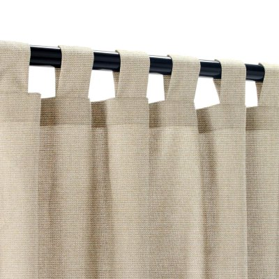 Sunbrella Canvas Taupe Outdoor Curtain with Tabs