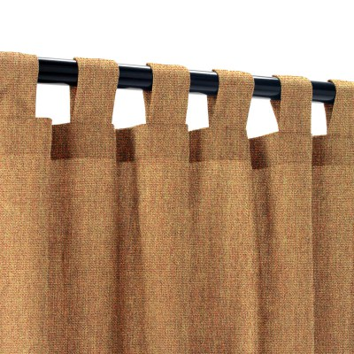 Sunbrella Canvas Teak Outdoor Curtain with Tabs