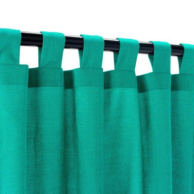 Sunbrella Canvas Teal Outdoor Curtain with Tabs