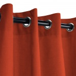 Sunbrella Canvas Terracotta Outdoor Curtain with Old Copper Grommets 50 in. x 84 in.