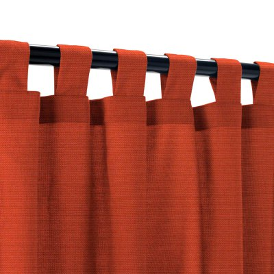 Sunbrella Canvas Terracotta Outdoor Curtain with Tabs
