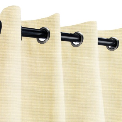 Sunbrella Canvas Vellum Outdoor Curtain with Nickel Grommets