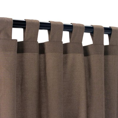 Sunbrella Canvas Walnut Outdoor Curtain with Tabs