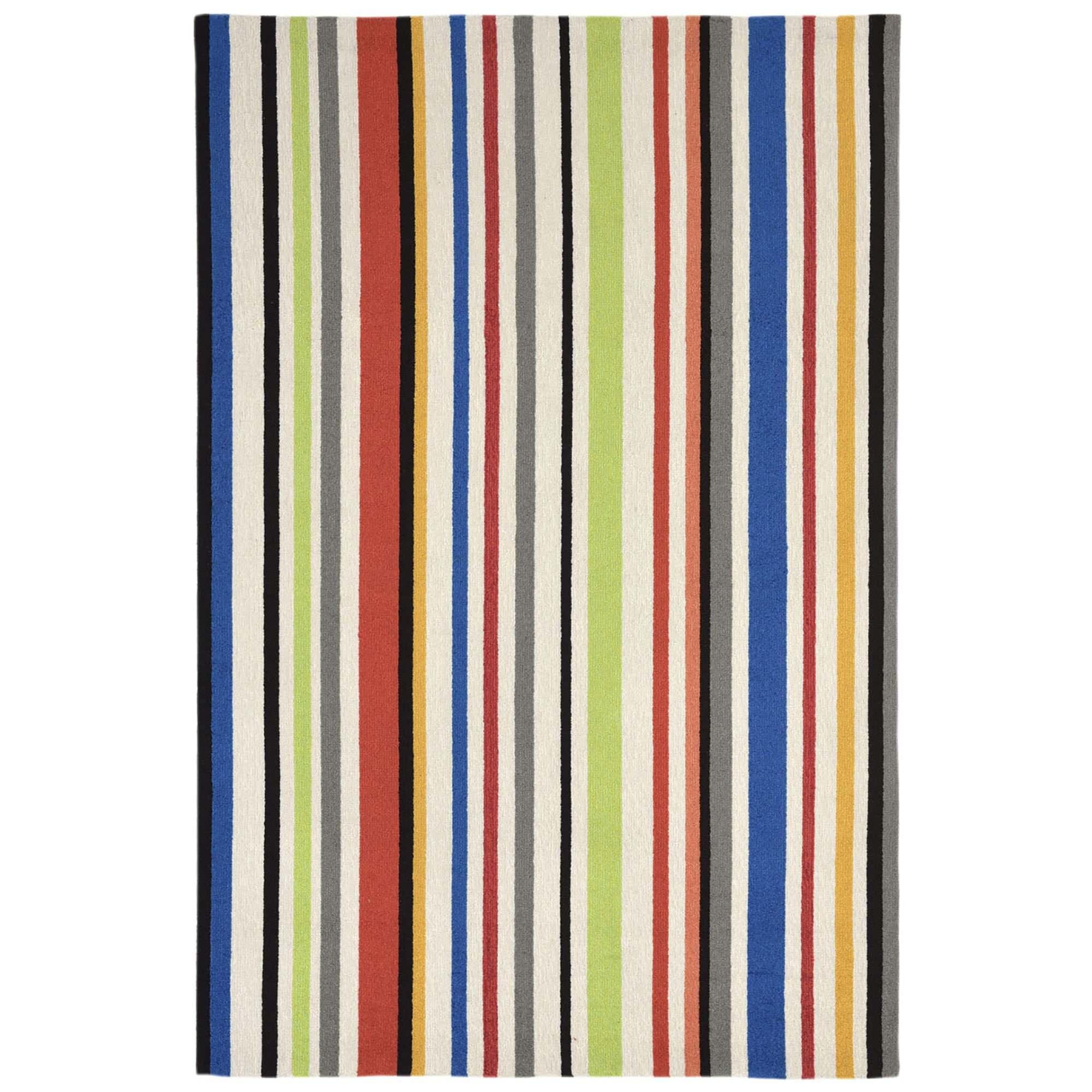 Capri Bold Stripe Bright Outdoor Rug