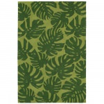 Capri Fronds Green Outdoor Rug