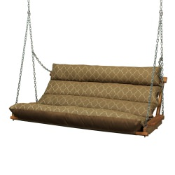 Deluxe Cushion Double Swing Made with Sunbrella - Arch Cocoa