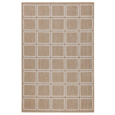 Carmel Squares Sand Indoor/Outdoor Rug