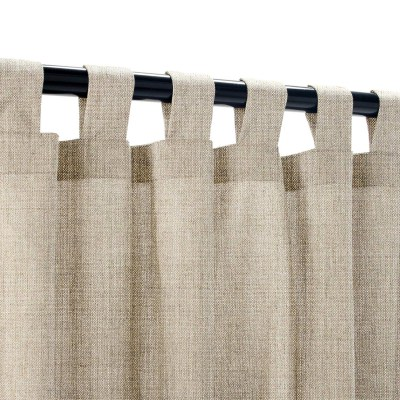 Sunbrella Cast Ash Outdoor Curtain with Tabs