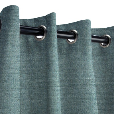 Sunbrella Cast Lagoon Outdoor Curtain with Grommets