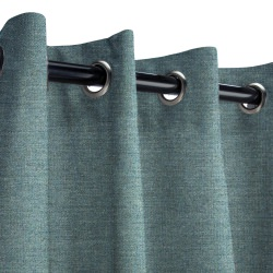 Sunbrella Cast Lagoon Outdoor Curtain with Nickel Grommets