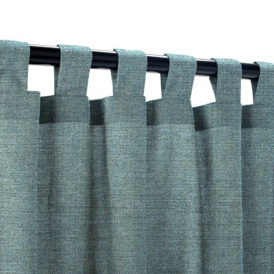 Sunbrella Cast Lagoon Outdoor Curtain with Tabs