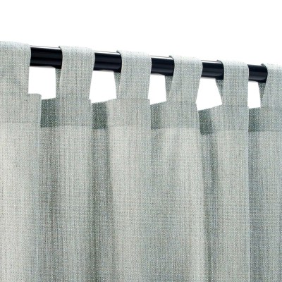 Sunbrella Cast Mist Outdoor Curtain with Tabs