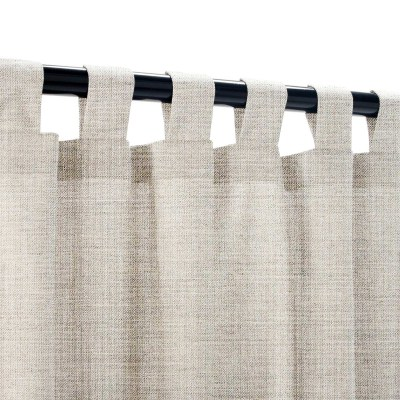 Sunbrella Cast Silver Outdoor Curtain with Tabs