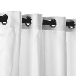 Polyester Outdoor Curtain with Grommets - White