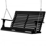 Casual-Back 4 Ft Stainless Double Porch Swing - 13 colors
