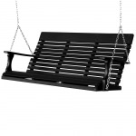 Casual-Back Stainless 5 Ft Porch Swing - 13 colors