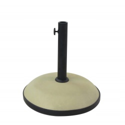 19 in. Round Concrete Umbrella Base - Beige