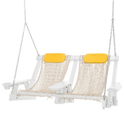 Coastal White Double Rope Swing