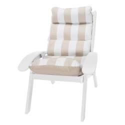 Coastal White Cushion Chair